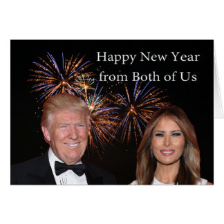 New Years card from Donald and Melania Trump
