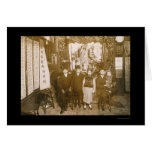 New Year's Celebration in Chinatown, NY 1911 Greeting Card