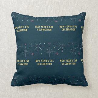 new year's celebration throw pillow
