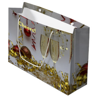 New Year's champagne confetti cheers gift bag