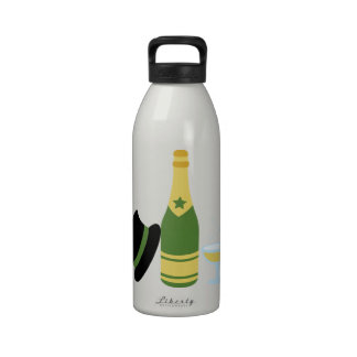 New Years Champagne Drinking Bottles