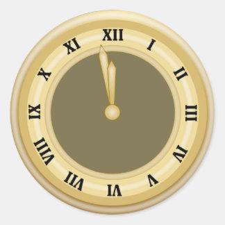 New Years Clock Holiday Sticker