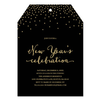 New Year's Confetti | Holiday Party Invitation