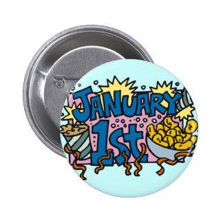 New Years Day 2 Inch Round Button