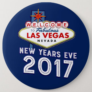 New Year's Eve 2017 Las Vegas 6 Inch Round Button