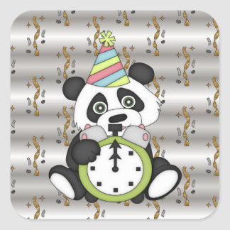 New Years Eve Bear Holiday sticker