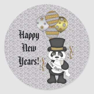 New Years Eve Bear sticker