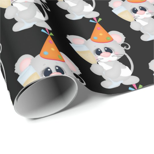 New Years Eve champagne mouse tiled wrap