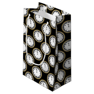 New Years Eve clock pattern party bag