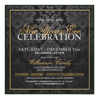 New Years Eve Dinner Party Invitation