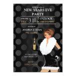 "New Years Eve Fashion Girl Holiday Dress 5"" X 7"" Invitation Card"