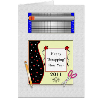 New Year's Eve Greeting Card Scrapbook Layout