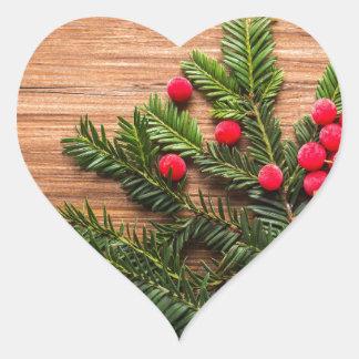 New Years Eve Heart Sticker