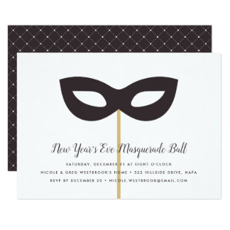 New Year's Eve Masquerade Ball Invitation