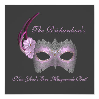"""""""New Year's Eve Masquerade Ball"""" - Lilac Mask [1] Card"""