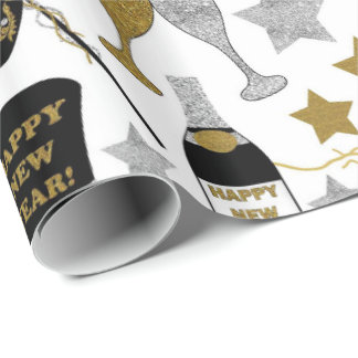 new Years Eve mixed party wrap Wrapping Paper