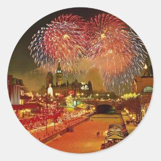 New Year's Eve, Ottawa, Ontario, Canada Classic Round Sticker
