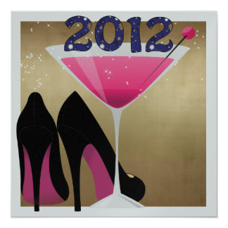 """New Year's Eve Party 5.25"""" Square Invitation Card"""
