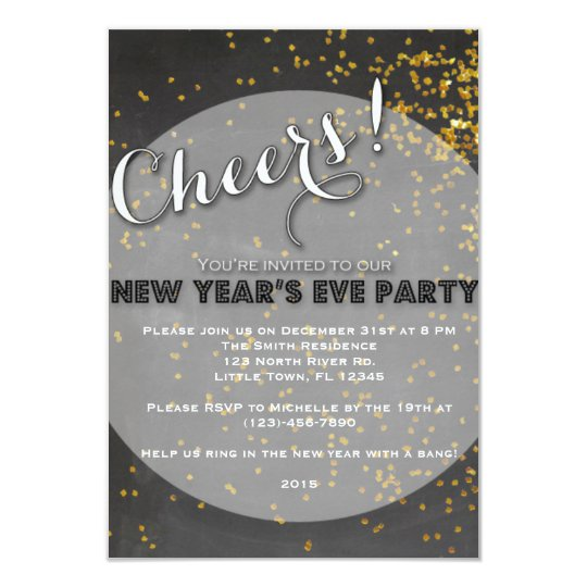 New Year's Eve Party Card
