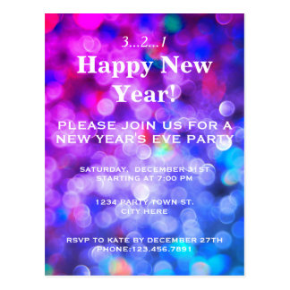 New Year's Eve Party Invitation Postcard
