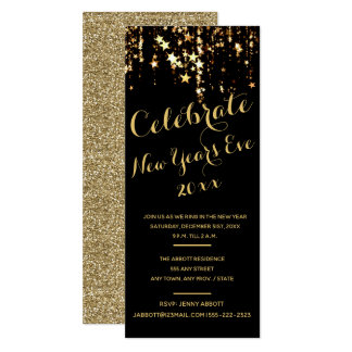 New Years Eve Party Invitation - Sparkling Stars