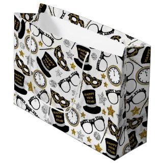 New Years Eve party mixed pattern bag