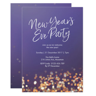 New Years Eve party sparkly Invitation
