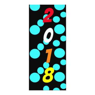 New Year's Eve polka dot invitation