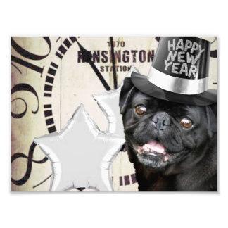 New Year's Eve pug dog Art Photo