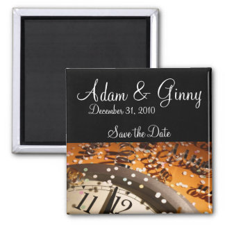 New Years Eve Save the Date Square Magnet