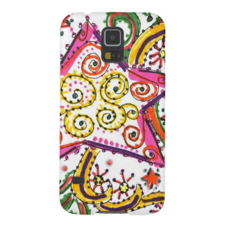 New Year's Eve Star, pen/ink design Cases For Galaxy S5