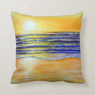 New Year's Eve Sunset Throw Pillow