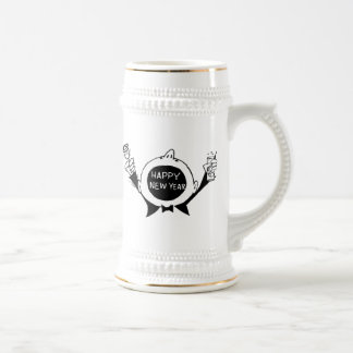 New Year's Eve T-Shirts, New Years Eve Gift 18 Oz Beer Stein
