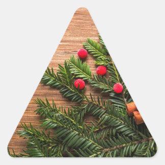 New Years Eve Triangle Sticker