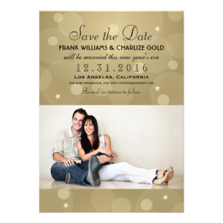 New Year's Eve Wedding Save the Date | Photo Card