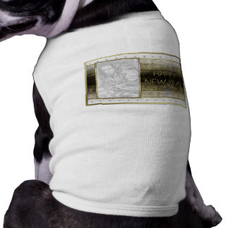 New Years - Golden Elegance - ADD Your Photo Dog T Shirt