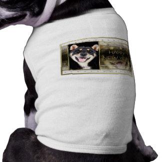 New Years - Golden Elegance - Shiba Inu - Hachi Doggie Tshirt