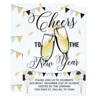 New Years Invitation Cheers to New Year Invite
