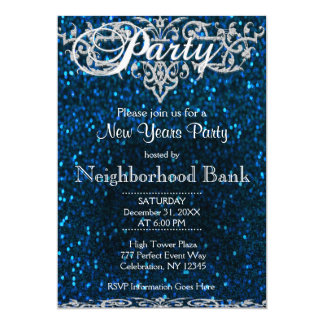 New Years Party | Blue and Silver Card