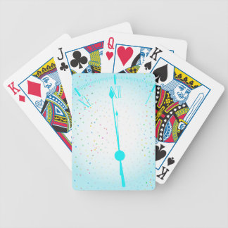 New Years Party Clock Bicycle Playing Cards