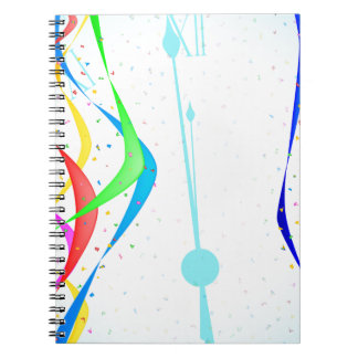 New Years Party Spiral Notebook