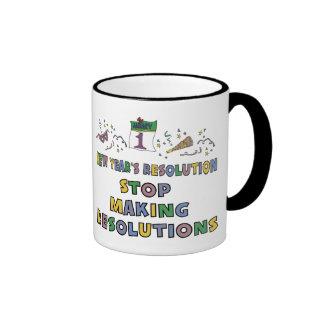 New Years Resolution Coffee Mug