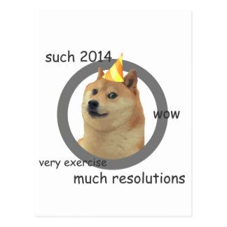 New Years Resolution Doge Postcard