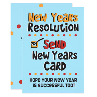 New Years Resolution © Funny Holiday Flat Card