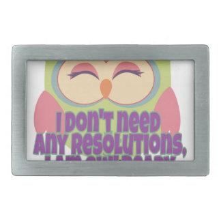 New years resolution rectangular belt buckles