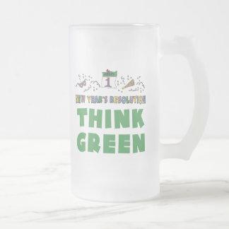 New Years Resolution Think Green Mug