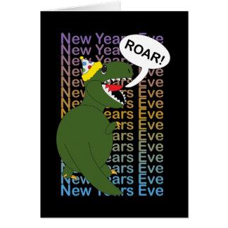 New Years Tyrannosaurus Rex Dinosaur Card