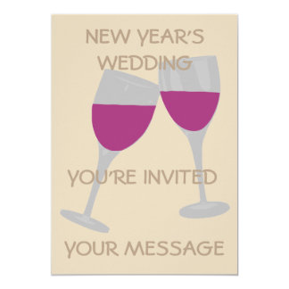 NEW YEAR'S WEDDING CELEBRATION WEDDING INVITATION