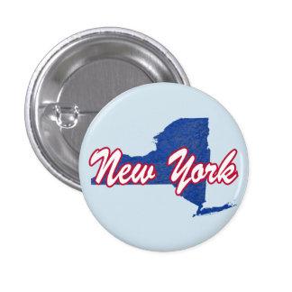New York 1 Inch Round Button