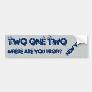 New York 212 area code. Bumper Sticker